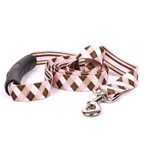 Yellow-Dog-Design-Pink-Brown-Argyle-EZ-Grip-Dog-Leash-0