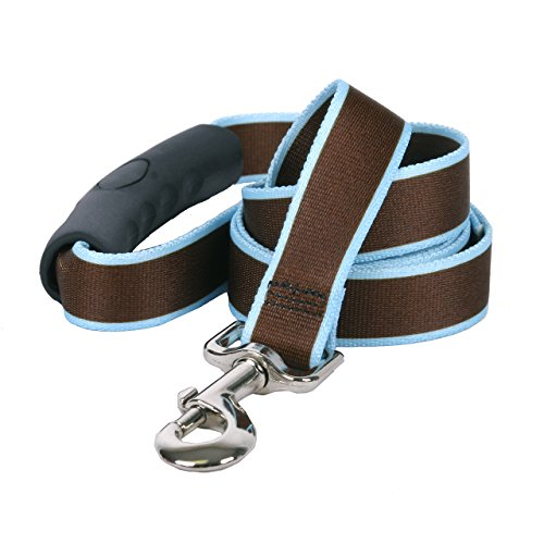 Yellow-Dog-Design-Sterling-Stripes-Brown-Light-Blue-Dog-Leash-with-Comfort-Grip-Handle-0