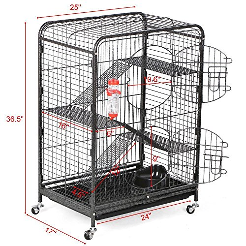go2buy-4-Level-Indoor-Ferret-Cage-Hutch-for-Small-Pets-Black-0-0
