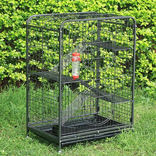 go2buy-4-Level-Indoor-Ferret-Cage-Hutch-for-Small-Pets-Black-0-1