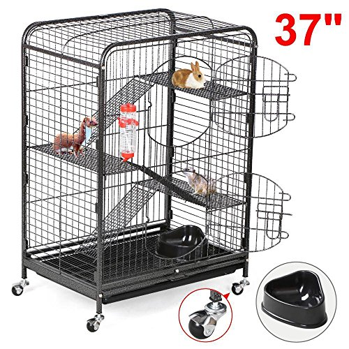 go2buy-4-Level-Indoor-Ferret-Cage-Hutch-for-Small-Pets-Black-0