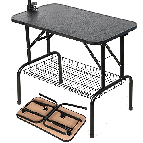 go2buy-Adjustable-Pet-Grooming-Table-with-ArmNoose-and-Mesh-Tray-32-x-18-x-30-inch-0-1