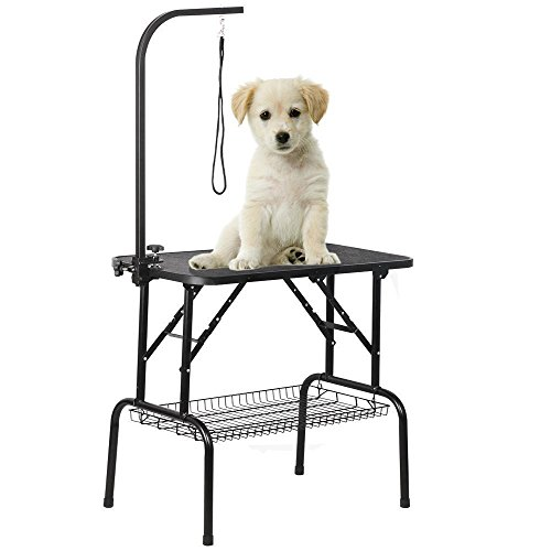 go2buy-Adjustable-Pet-Grooming-Table-with-ArmNoose-and-Mesh-Tray-32-x-18-x-30-inch-0