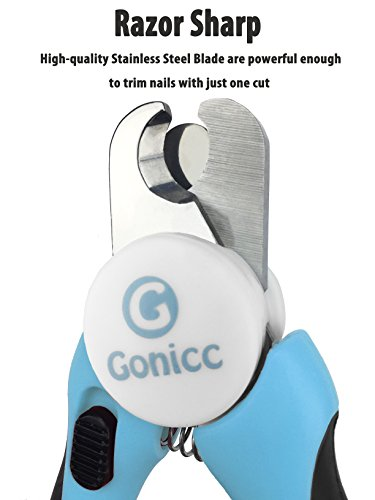 gonicc-Dog-Nail-Clippers-and-Trimmer-Razor-Sharp-Blades-Safety-Guard-to-Avoid-Overcutting-Free-Nail-File-Start-Professional-Safe-Pet-Grooming-at-Home-0-0