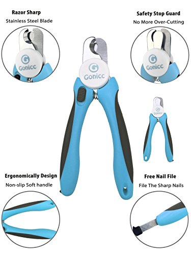 gonicc-Dog-Nail-Clippers-and-Trimmer-Razor-Sharp-Blades-Safety-Guard-to-Avoid-Overcutting-Free-Nail-File-Start-Professional-Safe-Pet-Grooming-at-Home-0-2
