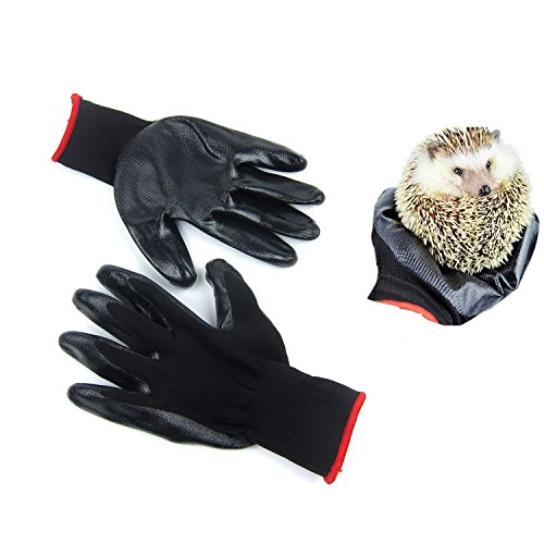 okstore-Touch-Small-Animal-Handling-Rabbies-Gloves-with-Coating-For-Small-Pet-Hedgehog-Harness-Gold-Bear-Squirrel-Totoro-Mesh-Rubber-Palm-Free-Size-fits-Men-Women-9inch-x-44inch-0