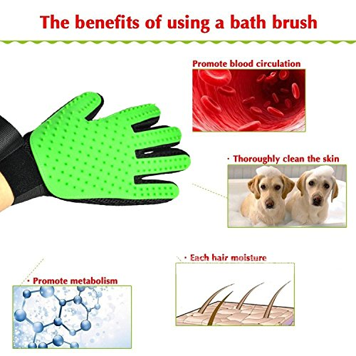 petbob-Pet-Grooming-GlovePet-Deshedding-GloveSoft-Gentle-Pet-Bath-Massage-MittSilicone-Pet-Dematting-Hair-Removal-Brush-Glove-Comb-for-Long-and-Short-Haired-Dogs-Cats-Bunnies-0-0