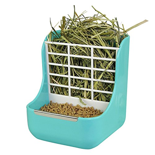 sxbest-2-in-1-Food-Hay-Feeder-for-Guinea-PigRabbitIndoor-Hay-Feeder-for-Guinea-PigRabbit-ChinchillaFeeder-Bowls-Use-for-Grass-Food-0