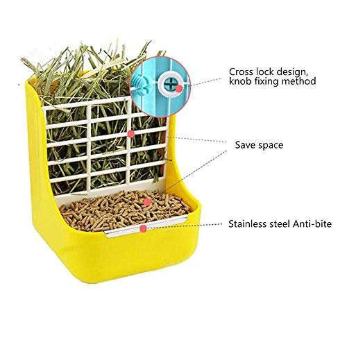 zswell-Hay-Food-Bin-Feeder-Hay-and-Food-Feeder-Bowls-Manger-Rack-for-Rabbit-Guinea-Pig-Chinchilla-and-Other-Small-Animals-0-2